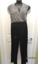 NEW Calvin Klein Black Trellis One Piece Jumpsuit Pantsuit SIZE 18W 18
