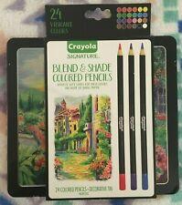 Crayola Signature Blend and Shade colored pencils 24 set vibrant colored pencils