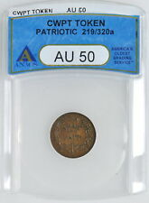 """1860's Civil War Token """"Army and Navy""""  219/320a ANACS AU50 The Federal Union"""