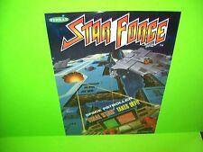 Tehkan STAR FORCE Original 1984 Video Arcade Game Promo Sales Flyer Japan Rare