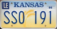 GENUINE American Kansas Ears of Wheat License Licence Number Plate Tag SSO 191