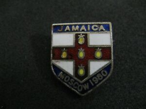 Olympic Moscow 1980 Jamaica NOC pin badge