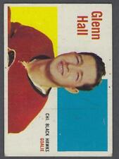 1960-61 Topps Chicago Blackhawks Hockey Card #25 Glenn Hall