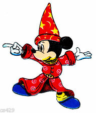 New listing mickey fantasia Disney fabric applique iron on not embroidered 3.5 inch