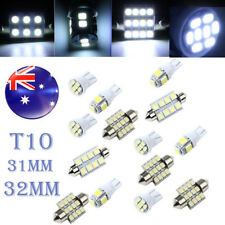 SET Car White LED Light Interior Kit for T10 & 31mm 42mm Map Dome +License Plate