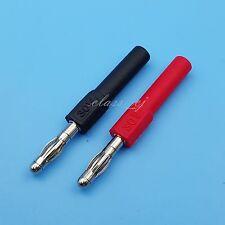 2Pcs Red and Black 4mm Male Banana Plug To 4mm Banana Socket Test Probes