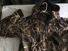 Drake Waterfowl Hunting Advantage MAX-4 Camo Hooded Mesh Jacket Mens Size Large