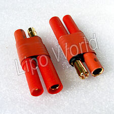 4mm HXT Stecker 5.5mm Goldkontake Buchse Hochvoltstecker Adapter Kabel LiPo Akku