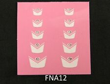 French Nail Tips Glitter Manicure Art Sticker Decals N-S-FNA12