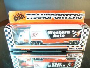 Darrell Waltrip #17 Western Auto 1991 1:87 Racing Team Transporter Matchbox