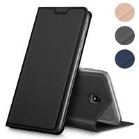 Handy Hülle Samsung Galaxy J3 2017 Book Case Schutzhülle Tasche Slim Flip Cover