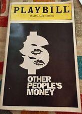 Playbill 1990 Other People's Money : Sterner @ Minetta Lane : Keats : Murtaugh