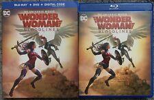 DC WONDER WOMAN BLOODLINES BLU RAY DVD 2 DISC SET + SLIPCOVER SLEEVE BUY IT NOW