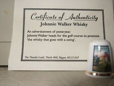 Johnnie Walker Whisky Thimble with Certificate of Authenticity (90)