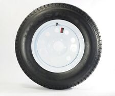 "2-Pk Americana Trailer Tires & Rims ST205/75D14 14"" Load C 5 Lug White Modular"