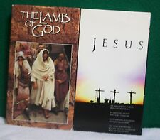 Lot 2- Religious VHS Videos Jesus - The Story of His Life & Work + Lamb of God