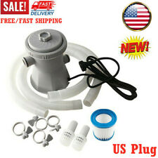 Electric Swimming Pool Filter Pump For Above Ground Pools Cleaning Tool Us Plug