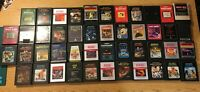 Lot of 46 Atari 2600 Video Game Cartridges- Tapeworm, Pitfall - All Tested