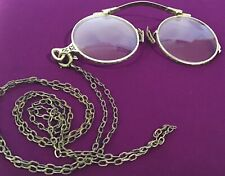 antique LORGNETTE pince nez STERLING SILVER Victorian Edwardian spectacles old