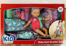 Kid Connection Baby Doll Stroller Set - 10 Pieces