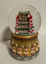 "RADIO CITY MUSIC HALL ROCKETTES SNOW GLOBE 6.5"" Musical Plays Jingle Bells"