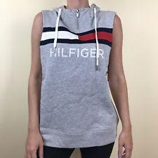 Tommy Hilfiger Sport Women's Sleeveless Hooded Pullover Zip Gray M Medium