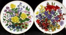 Franklin Mint Flowers Of The Year 2 Collector Plates June & July Great Condition