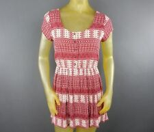 Forever 21 Short Sheath Small Dress BOHO Cut Out Hippie Rayon Casual Summer