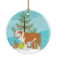 Caroline's Treasures English Bulldog Merry Christmas Tree Ceramic Ornament
