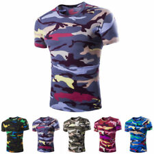 Camouflage Cotton Basic Tees for Men