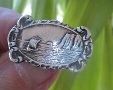 Early norvégien argent viking ship & north cape broche-ivar holt de norvège
