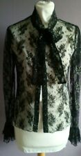 STUNNING CCDK BLACK AND GOLD LACE BLOUSE SIZE M (fit 8- to small 12)