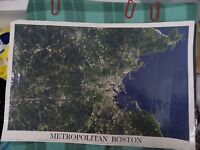 POSTER 36 X 24 SATELLITE PHOTOGRAPH OF METROPOLITAN BOSTON SPACESHOTS