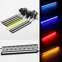2x 17cm Super Bright Waterproof 12V COB Car LED Light DRL Fog Driving Lamp Great
