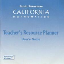 Scott Foresman California Mathematics: Teacher's Resource Planner Grade K Pc Cd