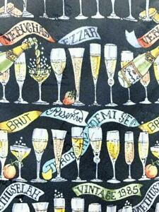 NICOLE MILLER DRINKS VINTAGE 1985 BLACK BEIGE SILK NECKTIE TIE MJN1621A #E38