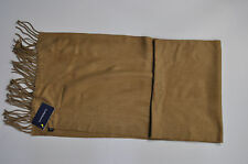 NEW Croft & Barrow Men's Solid Camel Tan Acrylic Scarf MSRP $20