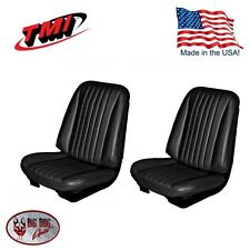 1968 Chevelle/El Camino Front Bucket Seat Upholstery Black by TMI. USA Made!