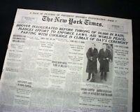 Great HERBERT HOOVER Presidential Inauguration Inaugural Address 1929 Newspaper