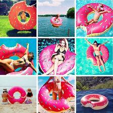 90CM Inflatable Swim Ring Giant  Bite Shape Donut Swimming Pool Water Float Raft