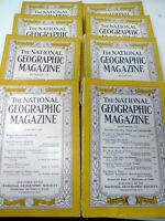 Lot 8 National Geographic Mag 1938 Jan Feb Jun Sep Oct Nov, 1941 Aug, 1958 Sep
