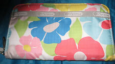 LeSportsac Floral Lily Zip Around Clutch Wallet