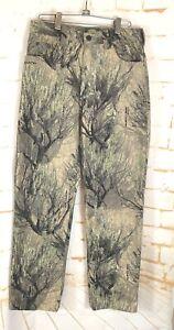 Cabelas Seclusion Open Country 3D Camo 100% Cotton  Pants Mens sz 30x32