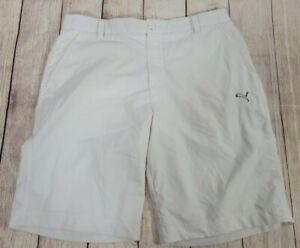 PUMA Sport Lifestyle Golf Shorts --- Mens 36W---SOLID WHITE