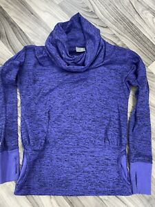 Athleta Sz XS Batwing and Robin Pullover Hoodie Sweatshirt Purple Marled