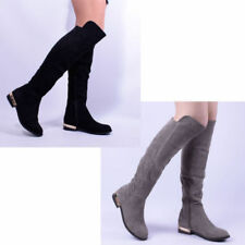 Faux Suede Knee High Boots Regular Shoes for Women