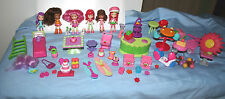 Strawberry Shortcake Bitty Berry  6 Dolls Pets Accessories Outfits Surf Boards +