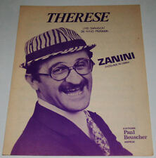 Partition vintage sheet music ZANINI : Thérèse * 70's EX