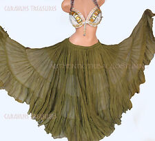 Olive Green 35 Yd  Skirt Gypsy Tribal Fusion Belly Dance ATS