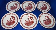 JLMENAU Graf Von Henneberg German Republic 6ea Deer Buck Doe Salad Plates 7 1/2""